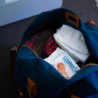 Wickeltasche schnell gepackt