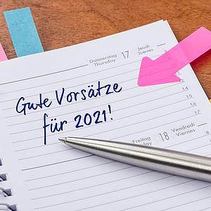 Neujahrsvorsätze der Deutschen für 2021